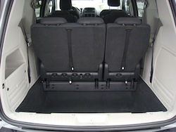 2009 Dodge Grand Caravan Silver trunk space